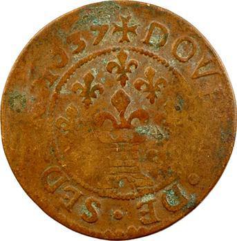 Ardennes, Sedan (principauté de), Frédéric-Maurice de La Tour, double tournois 13e type, 1637 Sedan
