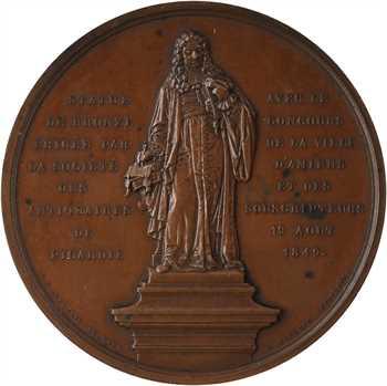 Louis-Philippe Ier, érection de la statue honorifique de Dufresne du Cange, par Depaulis, 1849 Paris