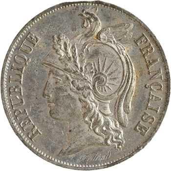 IIe République, concours de 10 centimes par Alard, en étain, 1848 Paris