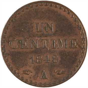 IIe République, un centime Dupré, 1848 Paris