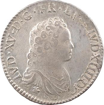 Louis XV, demi-écu dit Vertugadin, 1716 Troyes