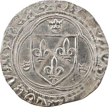 Charles VIII, blanc à la couronne (molettes/molettes et REX*), Châlons-en-Champagne