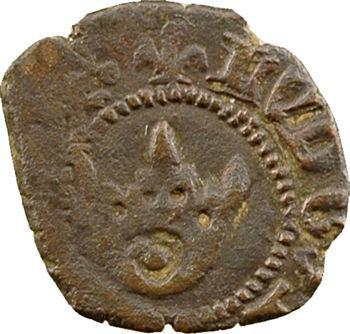 Louis XI, obole tournois, 2e type, lis initiaux, s.d