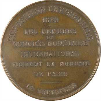 IIIe République, le Congrès Monétaire International à la Monnaie de Paris (Exposition Universelle), 1889 Paris