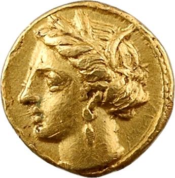 Zeugitane, Carthage, quart de statère, c.350-320 av. J.-C