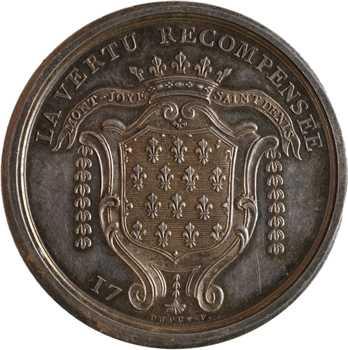 IIIe République, fondation de Belloy de Francières, détournée en médaille de mariage, 1902 Paris