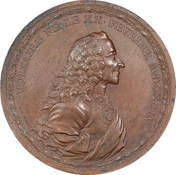 Voltaire d'après nature au château de Ferney, par G. C. Waechter, 1770 Mannheim