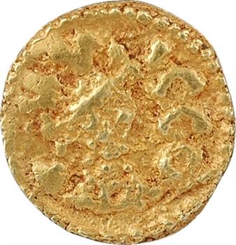 Neustrie, Vic-en-Ponthieu (Quentovic), trémissis du monétaire Dutta, c.620-640