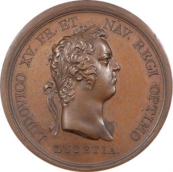 Louis XV, naissance du Dauphin, par Duvivier, petit module, 1729 Paris