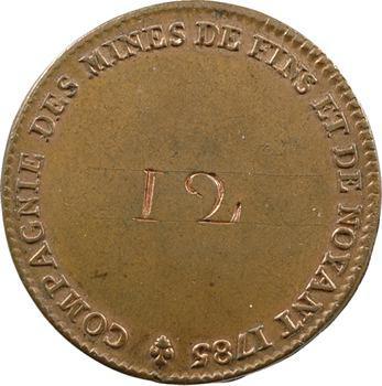 Louis XVI, jeton des mines de Fins et de Noyant, n° 12, 1785 Paris