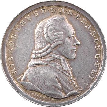 Autriche, Salzbourg (archevêché de), Jérôme de Colloredo, 1200 ans de l'archevêché, 1782