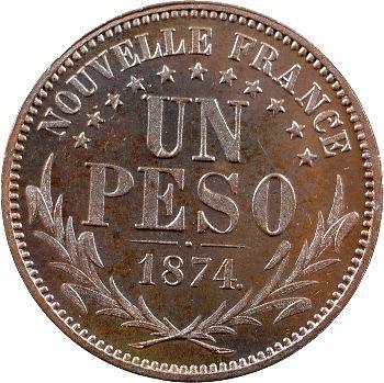 Araucanie-Patagonie, Orélie-Antoine Ier, piéfort de un peso, 1874