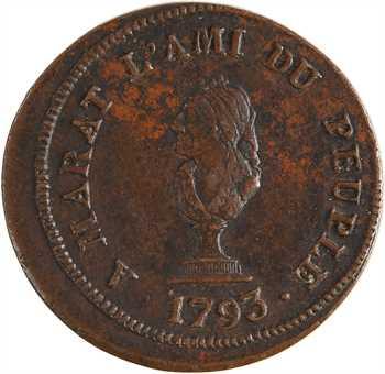 Convention, hommage à Marat, l'ami du peuple, 1793
