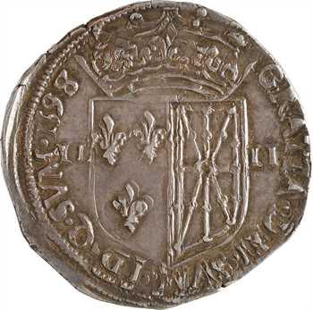 Henri IV, quart d'écu de Navarre, 1598/7 Saint-Palais
