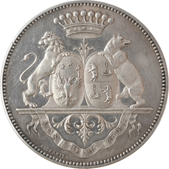 IIIe République, 50e anniversaire de mariage du Baron Renoüard, en argent, 1875 Paris