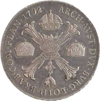 Italie, Lombardie-Vénétie (royaume de), Léopold II, scudo, 1792 Milan