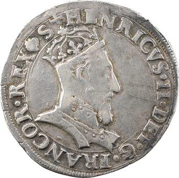 Henri II, teston à la tête couronnée, 1555 Bayonne