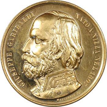 Italie, le débarquement à Marsala et la prise de Palerme par le général Garibaldi, 1860 Paris (Massonnet)