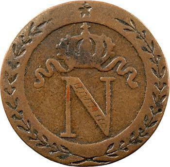 Premier Empire, 10 centimes à l'N couronnée, faux d'époque, 1800 Paris