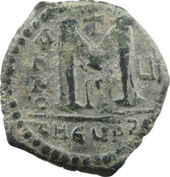 Justin II et Sophie, follis, Théoupolis (Antioche), 3e officine, An VI = 570-571