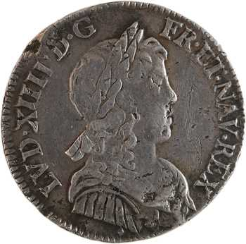 Louis XIV, quart d'écu à la mèche longue, 1653 Aix-en-Provence