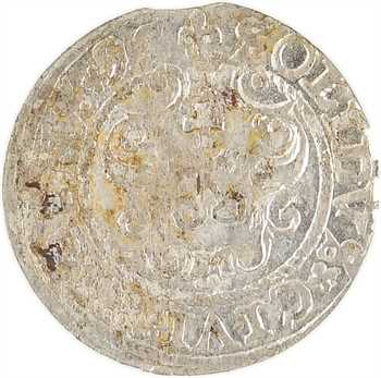 Pologne (royaume de), Sigismond III, schilling ou solidus, 1595 Riga