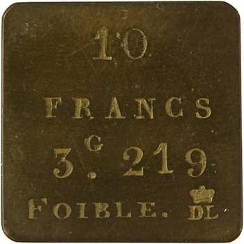 Louis-Philippe Ier, poids monétaire de 10 francs foible, s.d. (c.1835)