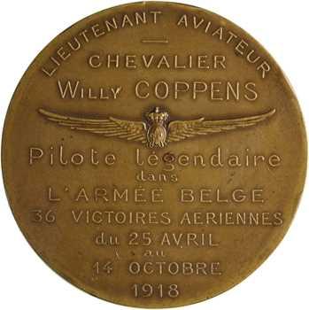 Belgique, Willy Coppens, lieutenant aviateur, par Bonnetain, 1920