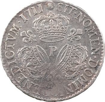 Louis XIV, demi-écu aux trois couronnes, 1711 Dijon