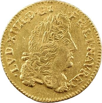 Louis XIV, louis d'or à l'écu, 1690 Troyes