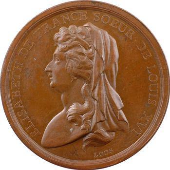 Louis XVI, l'exécution d'Elisabeth de France, par Loos, en bronze, 1794 Berlin
