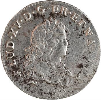 Louis XV, tiers d'écu de France, 1723 Nantes