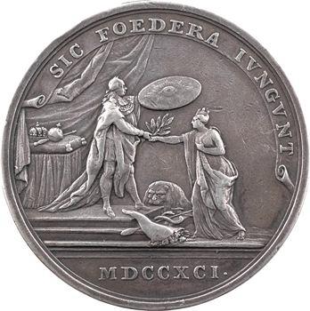 Belgique/Pays-Bas méridionaux, hommage des Pays-Bas lors de l'inauguration de Léopold II, 1791