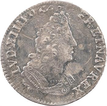 Louis XIV, douzième d'écu aux palmes, 1694 Tours