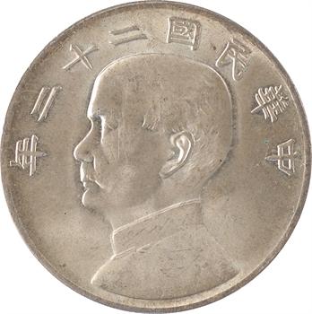 Chine (République soviétique de), dollar, An 22 (1933)