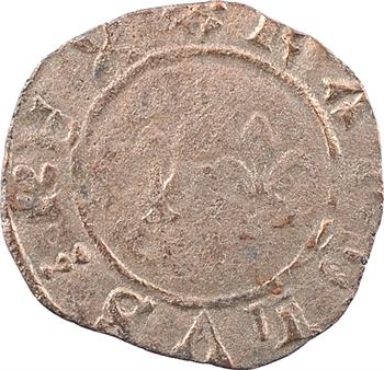 Charles VII, denier tournois aux lis accotés, Troyes