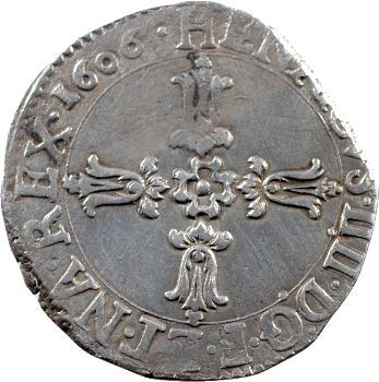 Henri IV, Quart d'écu, 1606 La Rochelle