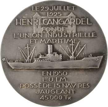 IVe République, Henri Cangardel et l'Union Industrielle Maritime, par Delamarre, 1950