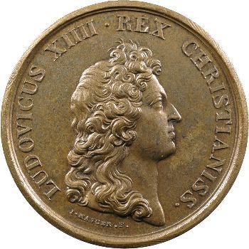 Louis XIV, médaille, les excuses de l'Espagne, 1662