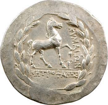 Éolide, Kymé, tétradrachme au nom de Metrophanes, IIe s. av. J.-C.