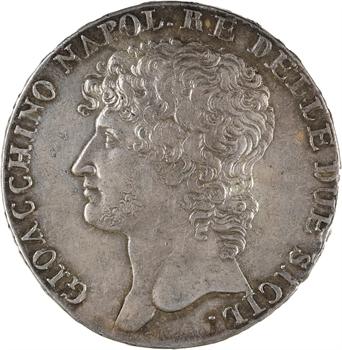 Italie, Naples et Deux-Siciles (royaume de), Joachim Murat, piastre de 12 carlini, 1810 Naples
