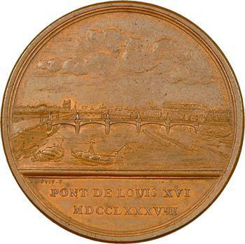 Louis XVI, pont de Louis XVI (actuel pont de la Concorde), 1788 Paris