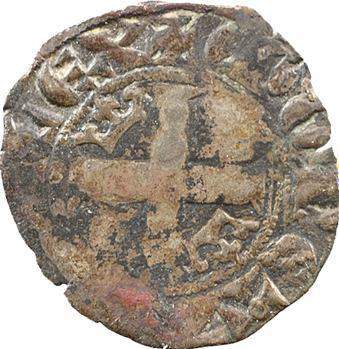 Aquitaine (duché d'), Édouard III, double au léopard sous une couronne