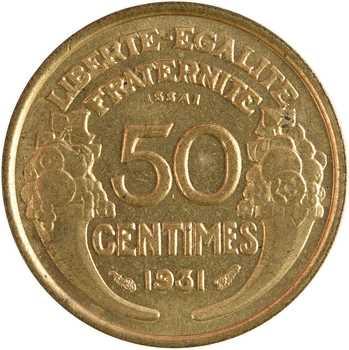 IIIe République, essai de 50 centimes Morlon, 1931 Paris