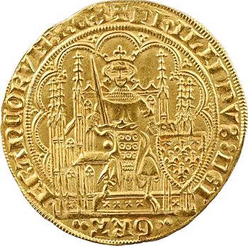 Philippe VI, écu d'or à la chaise, 5e émission