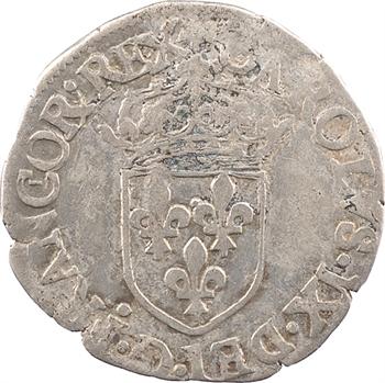 Charles IX, sol parisis 1er type, 1568 Troyes