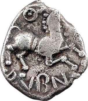 Éduens, denier ou quinaire ANORBOS / DVBNO, c.70-50 av. J.-C