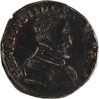 Henri II, teston à la tête nue 1er type, 1556 Lyon