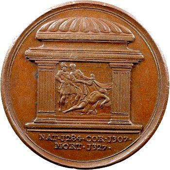 Angleterre, série des Rois par Jean Dassier, Édouard II, s.d. (c.1731-1732)