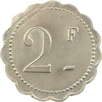 Maroc, 2 francs, entreprise Collet et Gouvernet, s.d